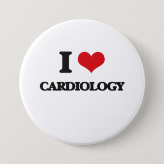 I love Cardiology 3 Inch Round Button