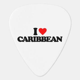 I LOVE CARIBBEAN GUITAR PICK