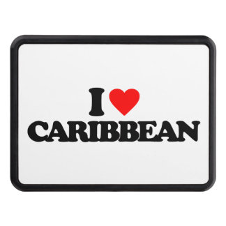 I LOVE CARIBBEAN TOW HITCH COVERS