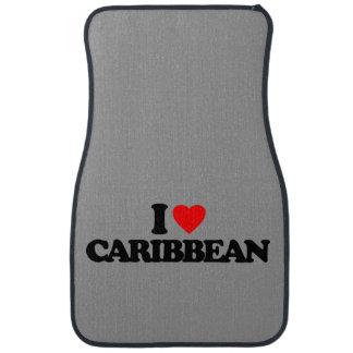 I LOVE CARIBBEAN CAR MAT