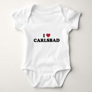 I Love Carlsbad California Baby Bodysuit