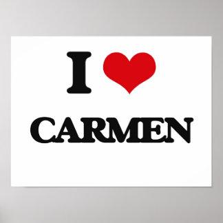 I Love Carmen Poster