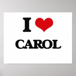 I Love Carol Poster