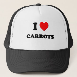 I Love Carrots ( Food ) Trucker Hat