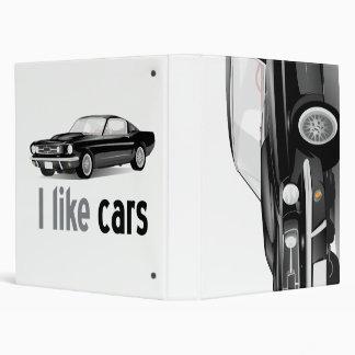 I love cars 3 ring binders