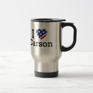 I Love Carson Travel Mug