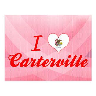 I Love Carterville, Illinois Postcard