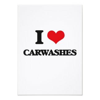 I love Carwashes 5x7 Paper Invitation Card