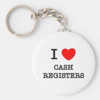 I Love Cash Registers Keychain