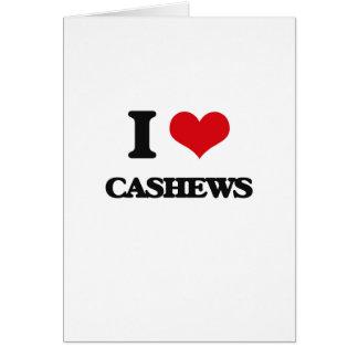 I love Cashews Greeting Card