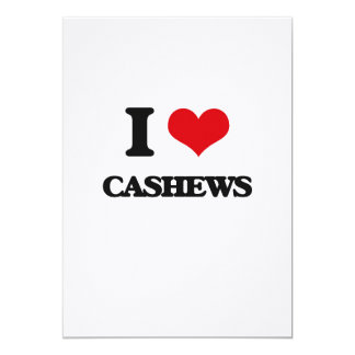 I Love Cashews Personalized Invitations