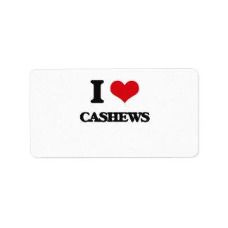 I Love Cashews Labels