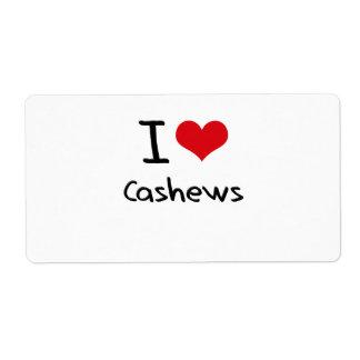 I love Cashews Custom Shipping Label