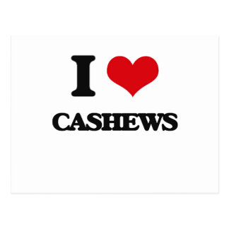 I Love Cashews Postcard