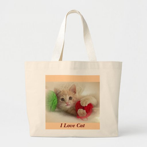 I Love Cat  Bag