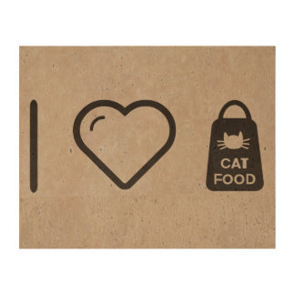 I Love Cat Food Cork Fabric