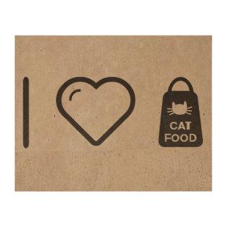 I Love Cat Food Photo Cork Paper