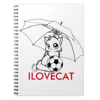 I LOVE CAT NOTEBOOK