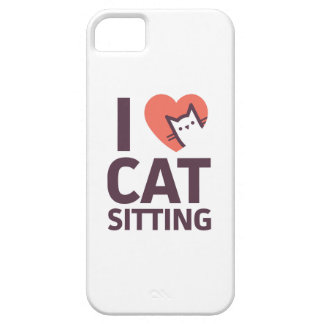 I Love Cat Sitting iPhone 5 Cover