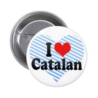 I Love Catalan 2 Inch Round Button