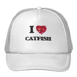 I Love Catfish food design Trucker Hat
