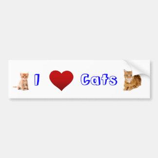 i love cats (2) bumper sticker