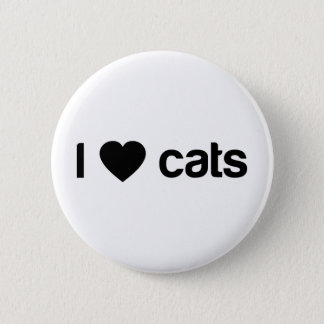 I Love Cats 2 Inch Round Button