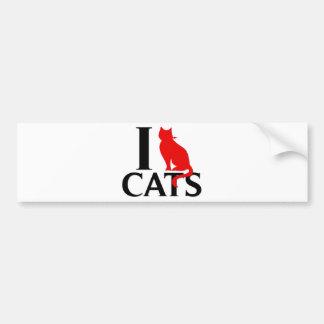 I Love Cats Bumper Sticker