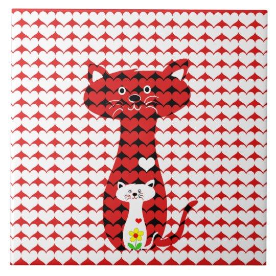 I Love Cats Ceramic Tile