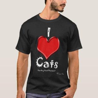 I Love Cats... Got Any Good Recipes? (dark) T-Shirt