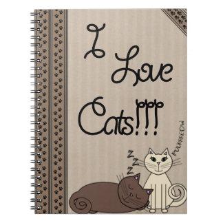 I Love Cats!!! Notebooks