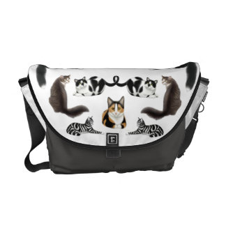 I Love Cats Rickshaw Messenger Bag