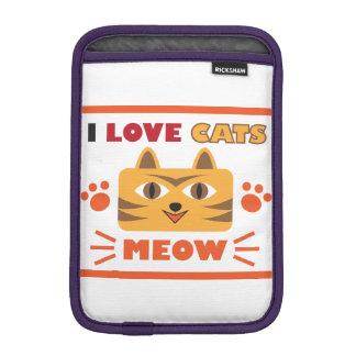 I love cats sleeve for iPad mini
