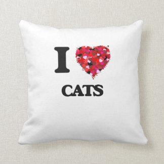 I love Cats Throw Pillow