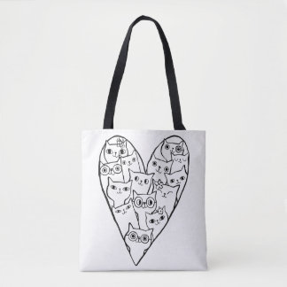 I LOVE CATS! TOTE BAG