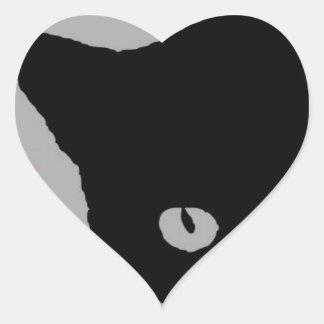 I LOVE CATS TSHIRT Happy Fun Text  & Red Heart Heart Sticker