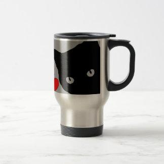 I LOVE CATS TSHIRT Happy Fun Text  & Red Heart Travel Mug