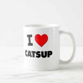 I love Catsup Basic White Mug