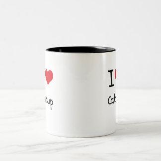 I love Catsup Two-Tone Mug