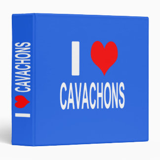 I Love Cavachons Binder, Dog Vinyl Binders