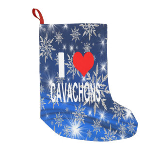 I Love Cavachons Christmas Stocking, Dog Small Christmas Stocking