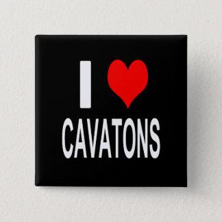 I Love Cavatons Button, Cavaton 2 Inch Square Button