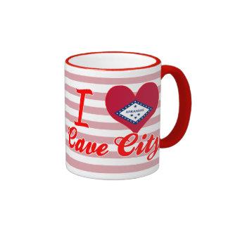I Love Cave City, Arkansas Ringer Mug