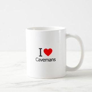 I Love Cavemans Classic White Coffee Mug