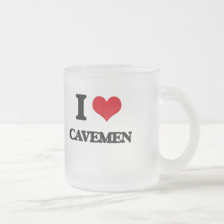 I love Cavemen 10 Oz Frosted Glass Coffee Mug