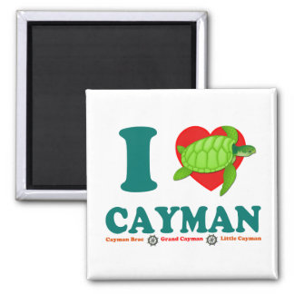 I Love Cayman Caribbean Style Souvenir Magnet