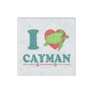 I Love Cayman Caribbean Style Souvenir Stone Magnets
