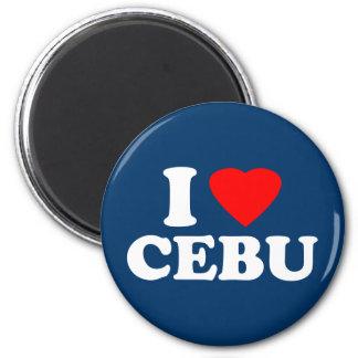 I Love Cebu 2 Inch Round Magnet
