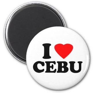 I Love Cebu Refrigerator Magnet