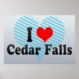 I Love Cedar Falls, United States Print